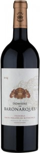 Vintage Domaine de Baronarques red wine 2014